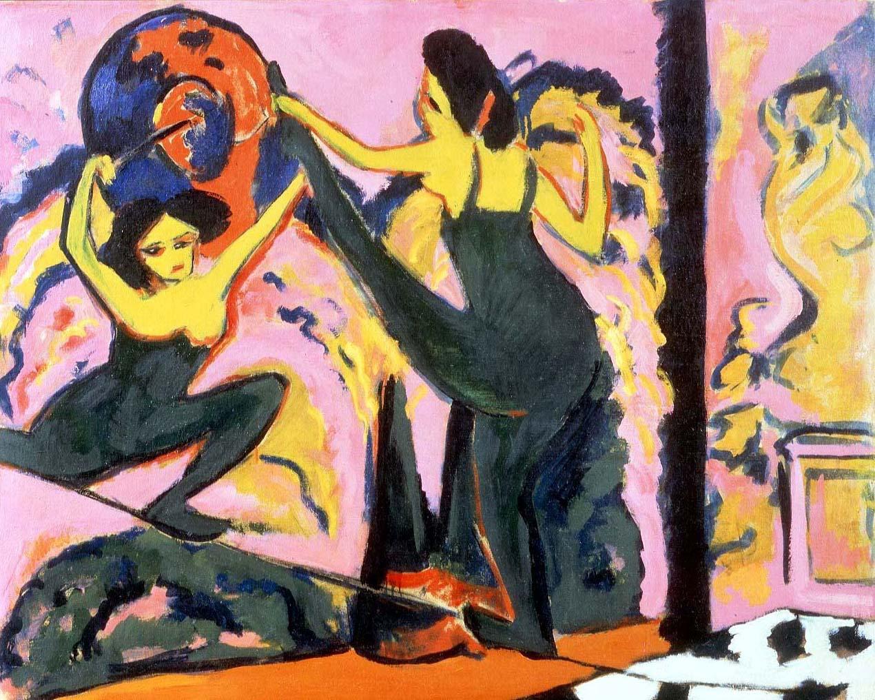 Image result for Ernst Ludwig Kirchner (1880-1938) Tightrope Walk, 1908-10